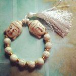double buddha white howlite mala bracelet